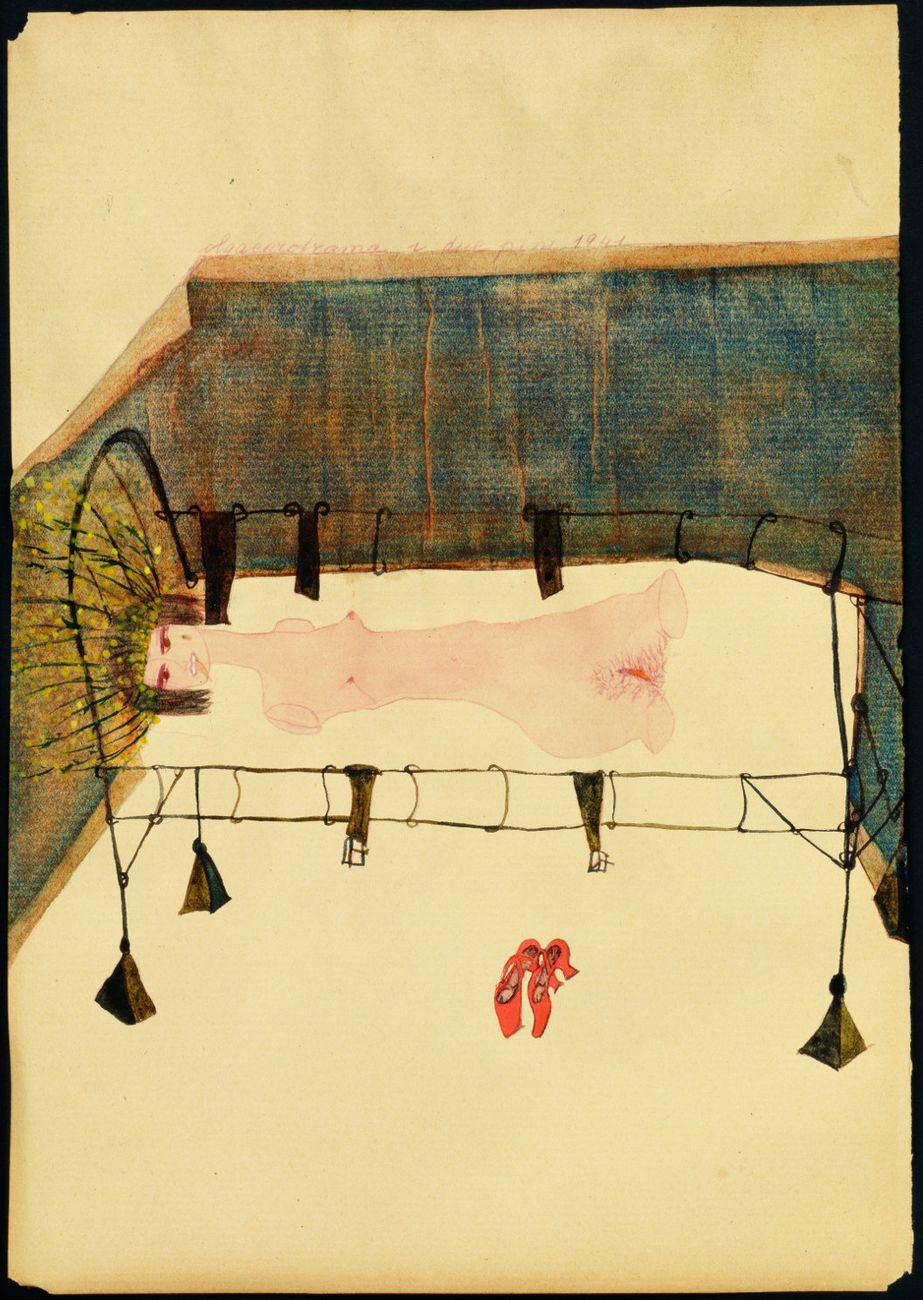 Carol Rama, I due pini, 1941