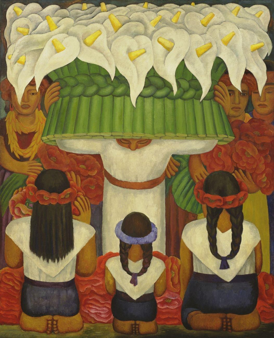 Diego Rivera, Flower Festival. Feast of Santa Anita, 1931. MoMA, New York © 2020 Banco de México Diego Rivera Frida Kahlo Museums Trust, Mexico, D.F. - Artists Rights Society (ARS), New York. Photo © MoMA - Licensed by SCALA - Art Resource, New York