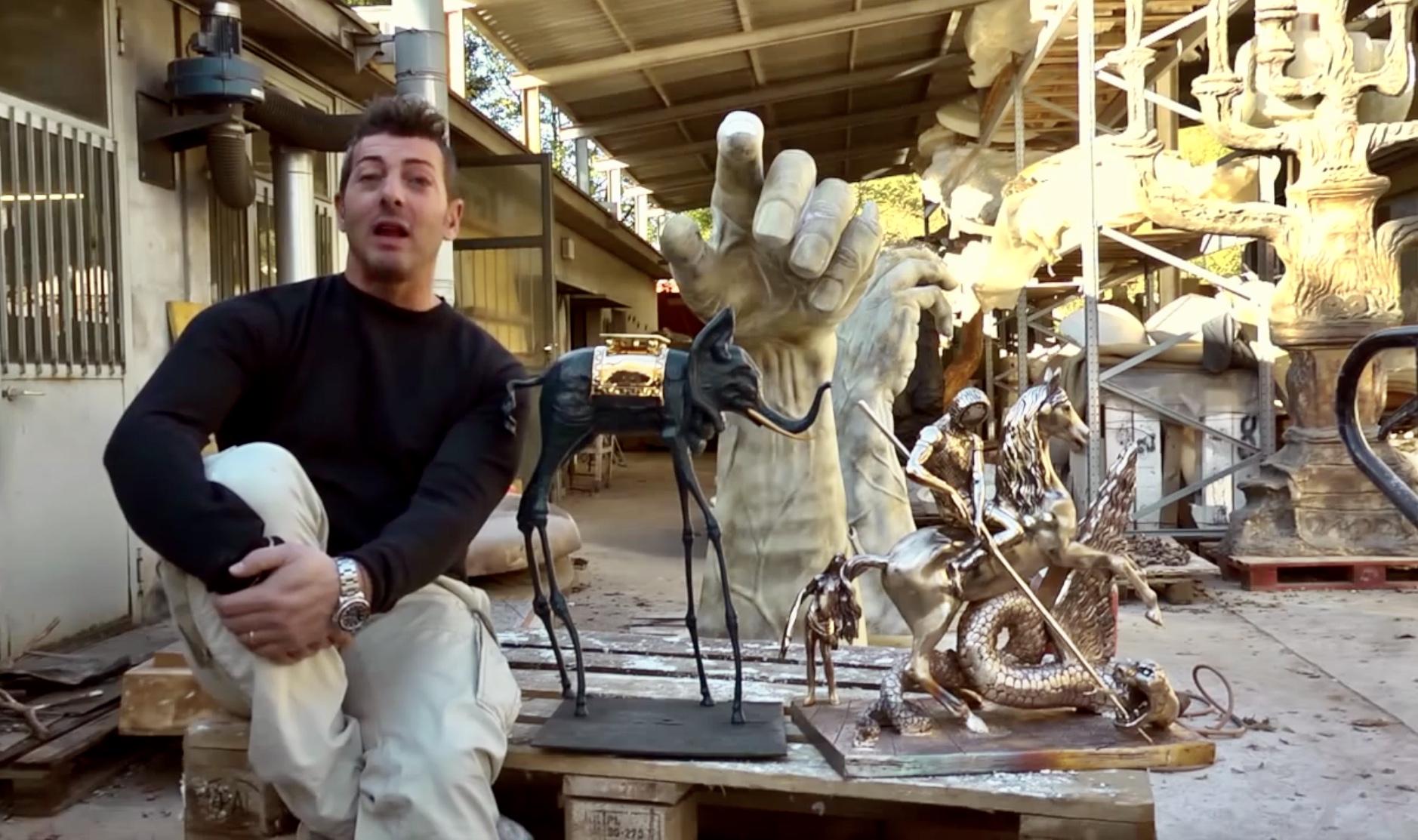 Dalì a Siena - la produzione delle sculture nella fonderia Perseo di Mendrisio