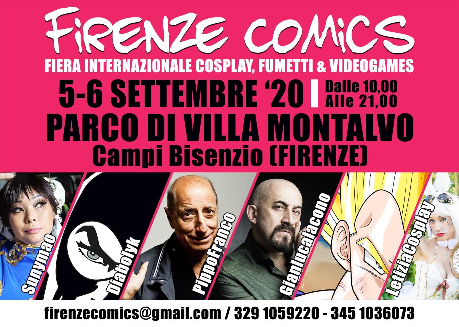 Firenze Comics, 2020. Gli ospiti della quinta edizione