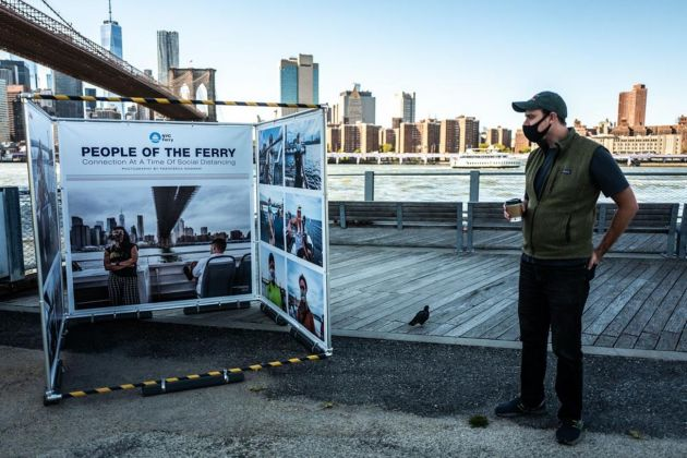 Francesca Magnani. People of the ferry 2020. Connection at a time of social distancing. Photoville 2020, Brooklyn Bridge Park, New York 2020