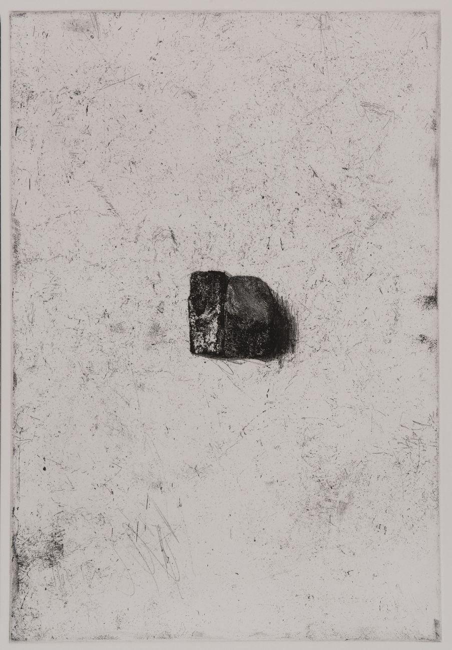Franco Fanelli, Litica I, 2019, acquaforte e vernice molle, mm 365x245, tiratura di 15