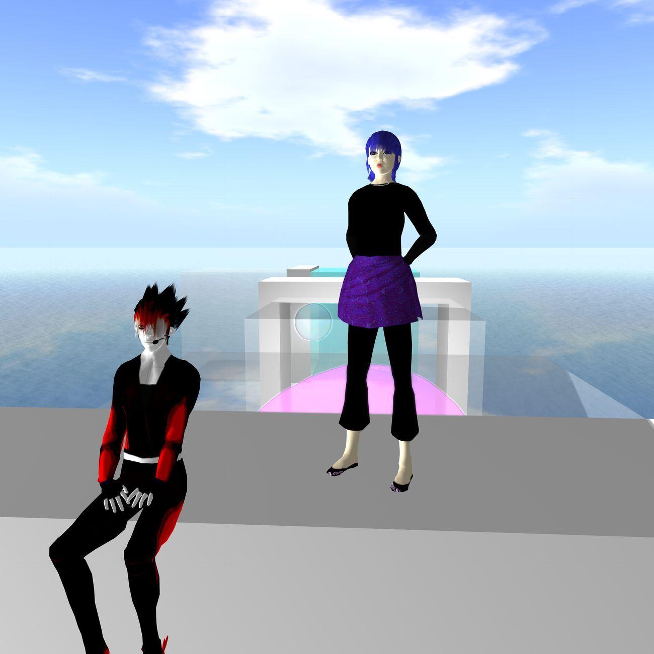 Giugiogia e MariTer Auer nel Brera Academy virtual lab in Second Life nel 2013