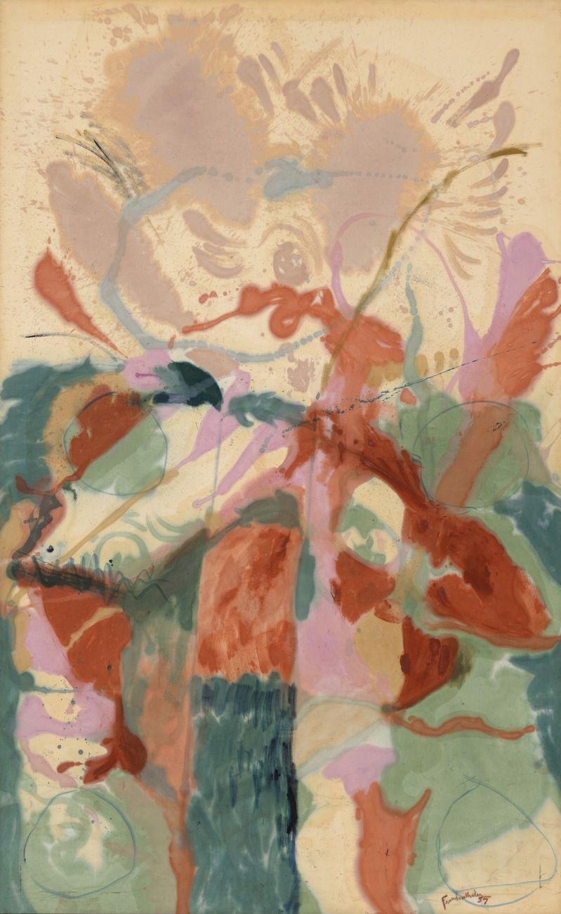Helen Frankenthaler, Jacob's Ladder, 1957. MoMA, New York