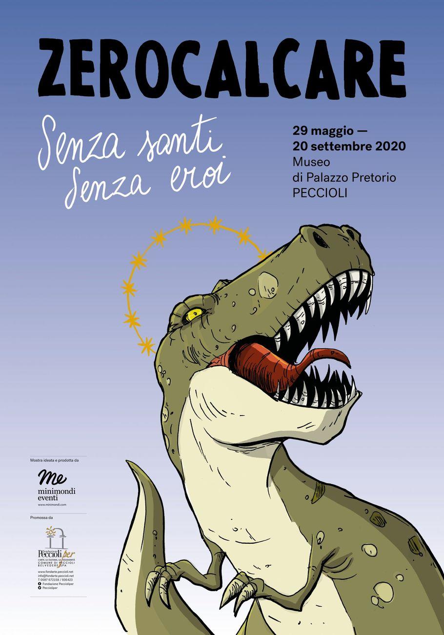 Il manifesto di Senza santi, senza eroi, la mostra in corso al Museo di Palazzo Pretorio di Peccioli