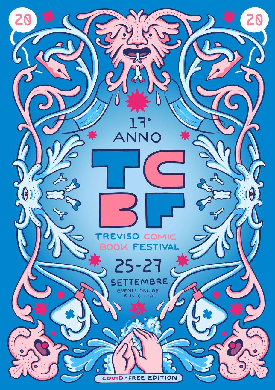 Il poster del Treviso Comic Book 2020, realizzato da Matteo Farinella