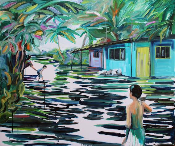 Isabella Pers, Tuvalu Kiribati, olio su tela