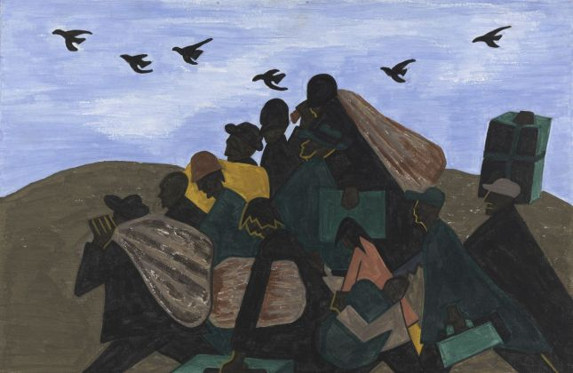 Jacob Lawrence, da The Migration Series, 1940-41. The Phillips Collection, Washington, DC © 2019 The Jacob and Gwendolyn Knight Lawrence Foundation, Seattle - Artists Rights Society (ARS), New York