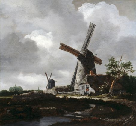 Jacob van Ruisdael, Landscape with Windmills near Haarlem, c. 1655, Collection Dulwich Picture Gallery, London