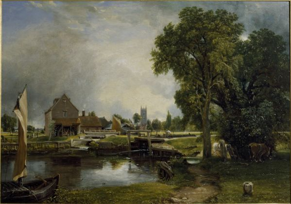 John Constable, Dedham Lock and Mill, 1820, Collection Victoria and Albert Museum, London (given by John Sheepshanks, 1857)