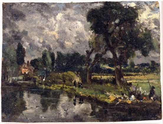 John Constable, Flatford Mill from the Bridge, c. 1814 16, Collection David Thomson