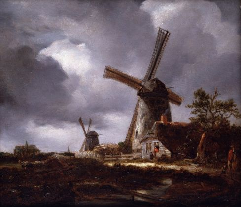 John Constable, after Jacob van Ruisdael, Landscape with Windmills near Haarlem, 1831, Collection Dulwich Picture Gallery, London