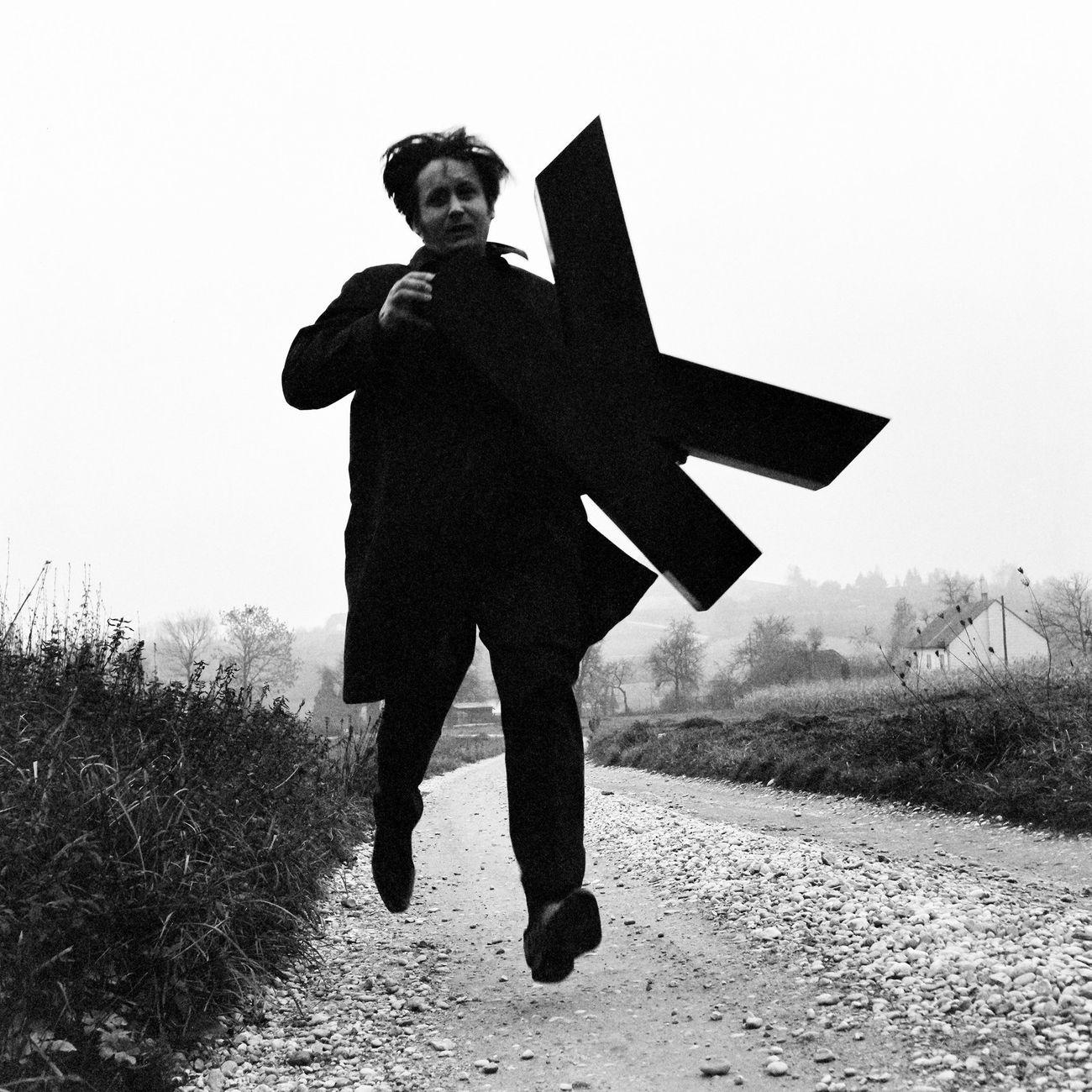 Josef Bauer, Buchstabenläufer, 1970. Photo Fritz Lichtenauer. Courtesy the artist & Krobath, Vienna & Galerie Karin Guenther, Amburgo