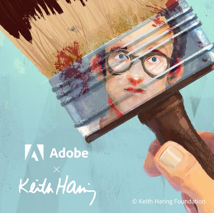 Adobe e la Keith Haring Foundation lanciano 6 pennelli digitali ispirati a Keith Haring - ©Keith Haring Foundation