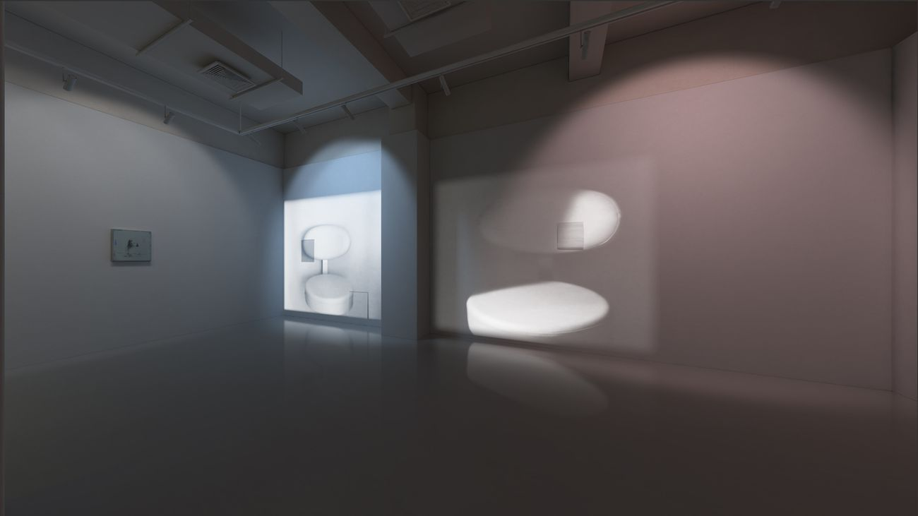 Lee Kit. The Gazing Eyes Won't Lie. Exhibition view at Massimo De Carlo VSpace, 2020