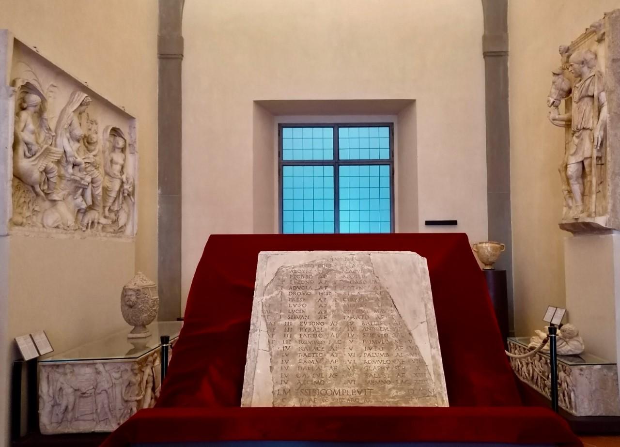 L'epigrafe romana di Avilius Teres alle Gallerie degli Uffizi