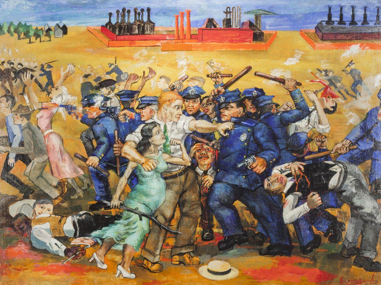 Philip Evergood, American Tragedy, 1937. Courtesy Harvey and Harvey Ann Ross