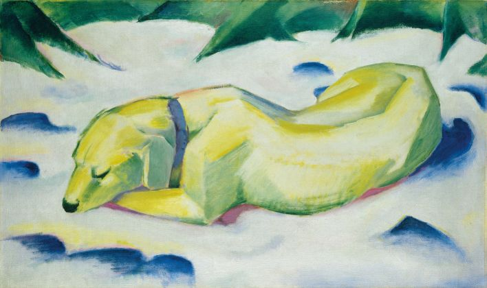 Franz Marc (1880–1916) Dog Lying in the Snow, ca. 1911 Oil on canvas, 62.5 x 105.0 cm Städel Museum, Frankfurt am Main, Property of Städelscher Museums-Verein e.V. CC BY-SA 4.0 Städel Museum, Frankfurt am Main
