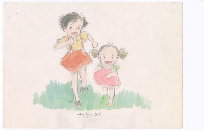 Production Imageboard, My Neighbor Totoro (1988), Hayao Miyazaki. Courtesy 1988, Studio Ghibli