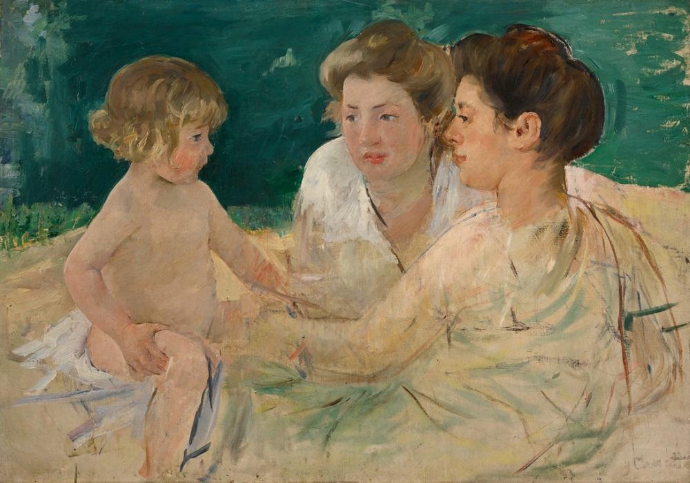 10459 Lot 123 Mary Cassatt, The Sun Bath, with Three Figures
