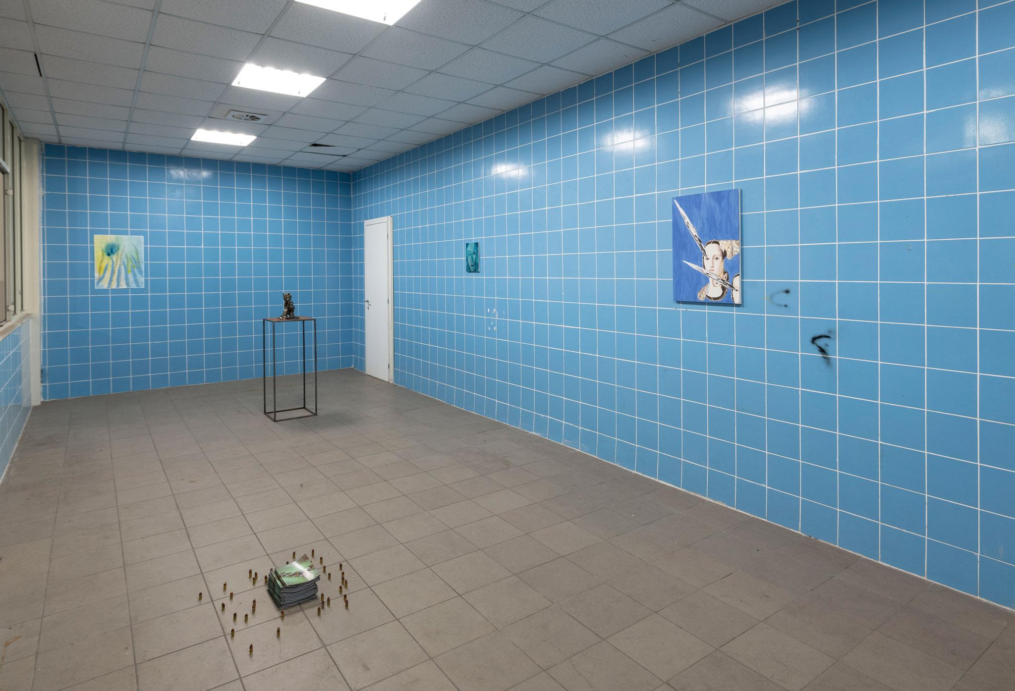 Vista dell'installazione Spaziomensa, courtesy artisti e Spaziomensa, photo credit: Giorgio Benni