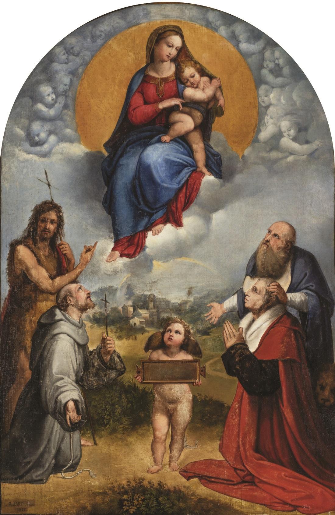 Antonio Sarti, Madonna di Foligno (copia da Raffaello), 1821 olio su tela Roma, Accademia Nazionale di San Luca