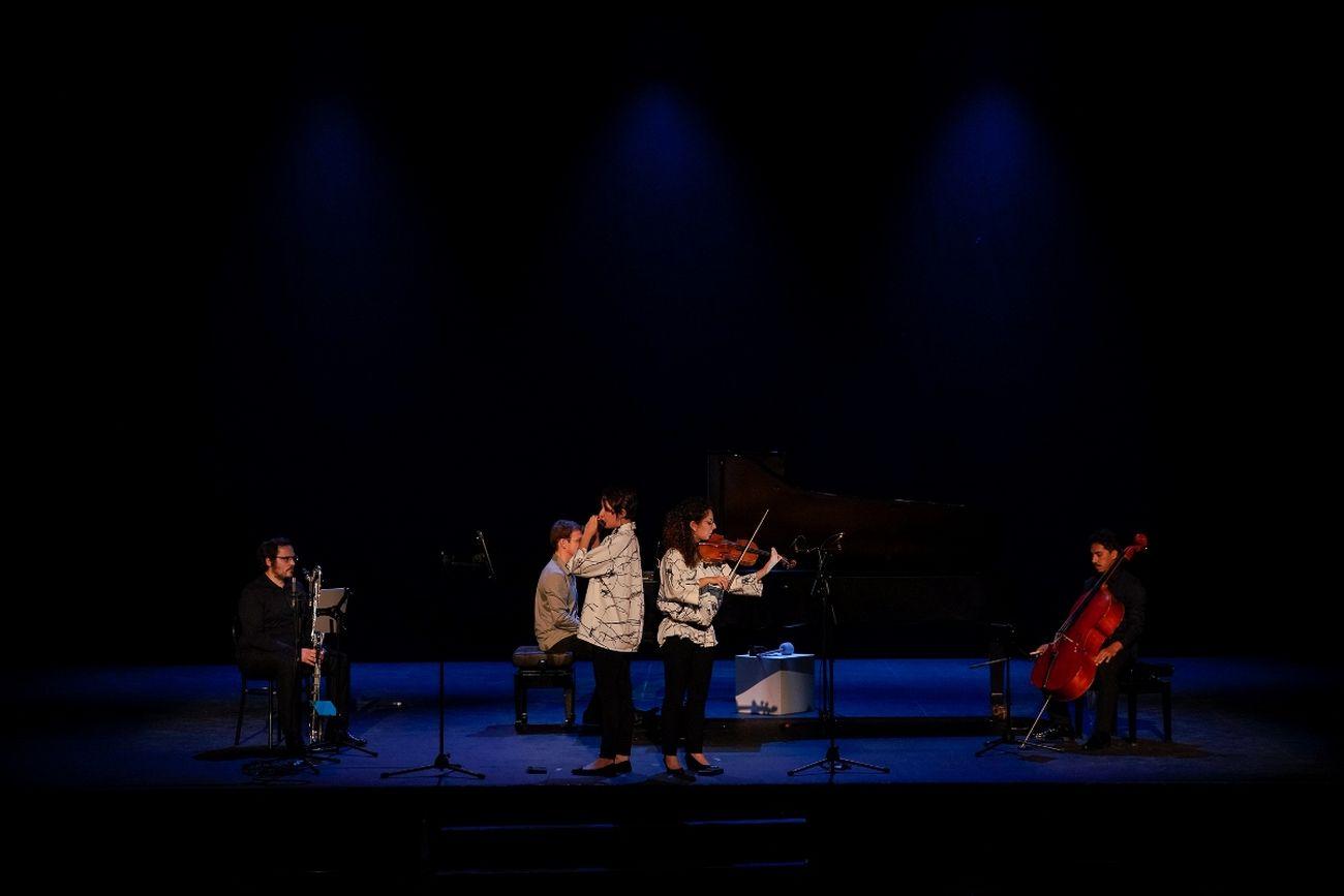 Biennale Musica Venezia 2020. Il concerto dell'Ensemble Fractales. Courtesy La Biennale di Venezia. Photo Andrea Avezzù