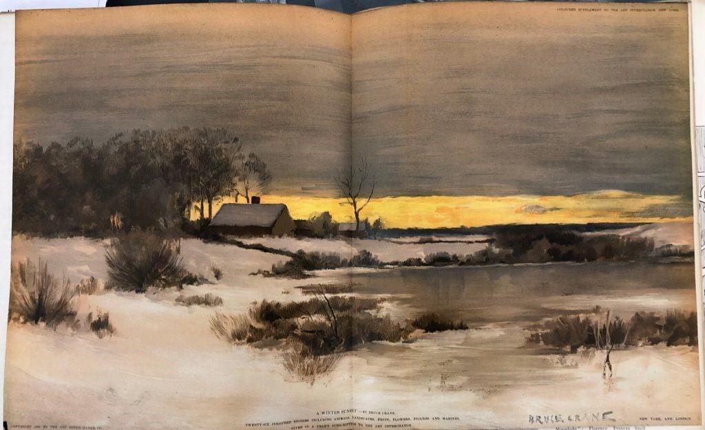 Bruce Crane, A Winter Sunset, Art Interchange. Crediti fotografia Louis Shadwick