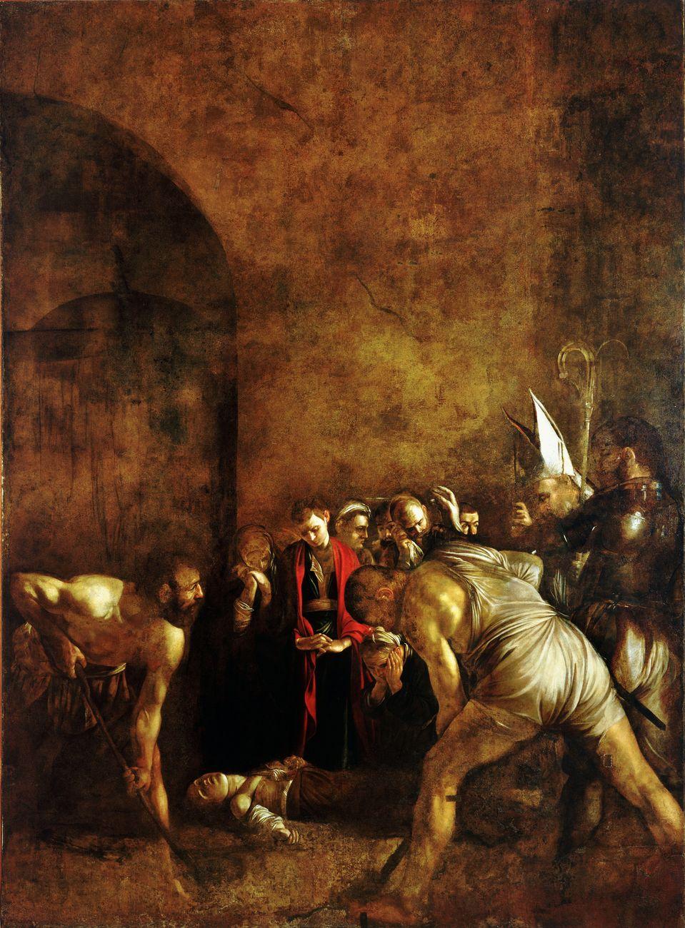 Caravaggio, Seppellimento di Santa Lucia, 1608, olio su tela, cm 408x300. Chiesa di Santa Lucia alla Badia, Siracusa