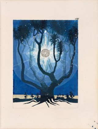 Carl Gustav Jung, The Philosophical Tree, 1921 22, illustrazione da The Red Book. Courtesy The Foundation of the Works of C.G. Jung & W.W Norton & Co.