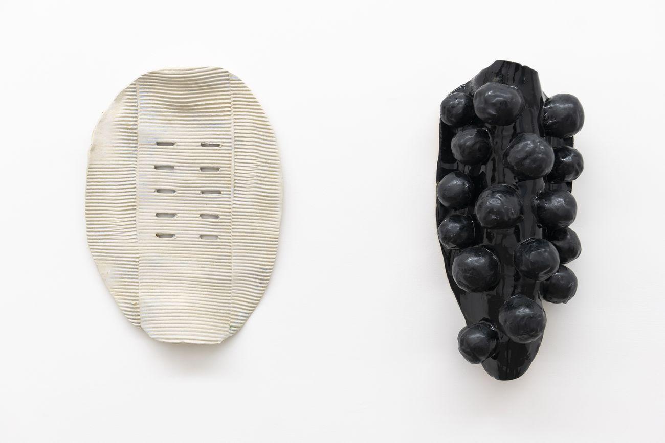 Caroline Achaintre. Permanente. Installation view at Fondazione Giuliani, Roma 2020. Photo Giorgio Benni
