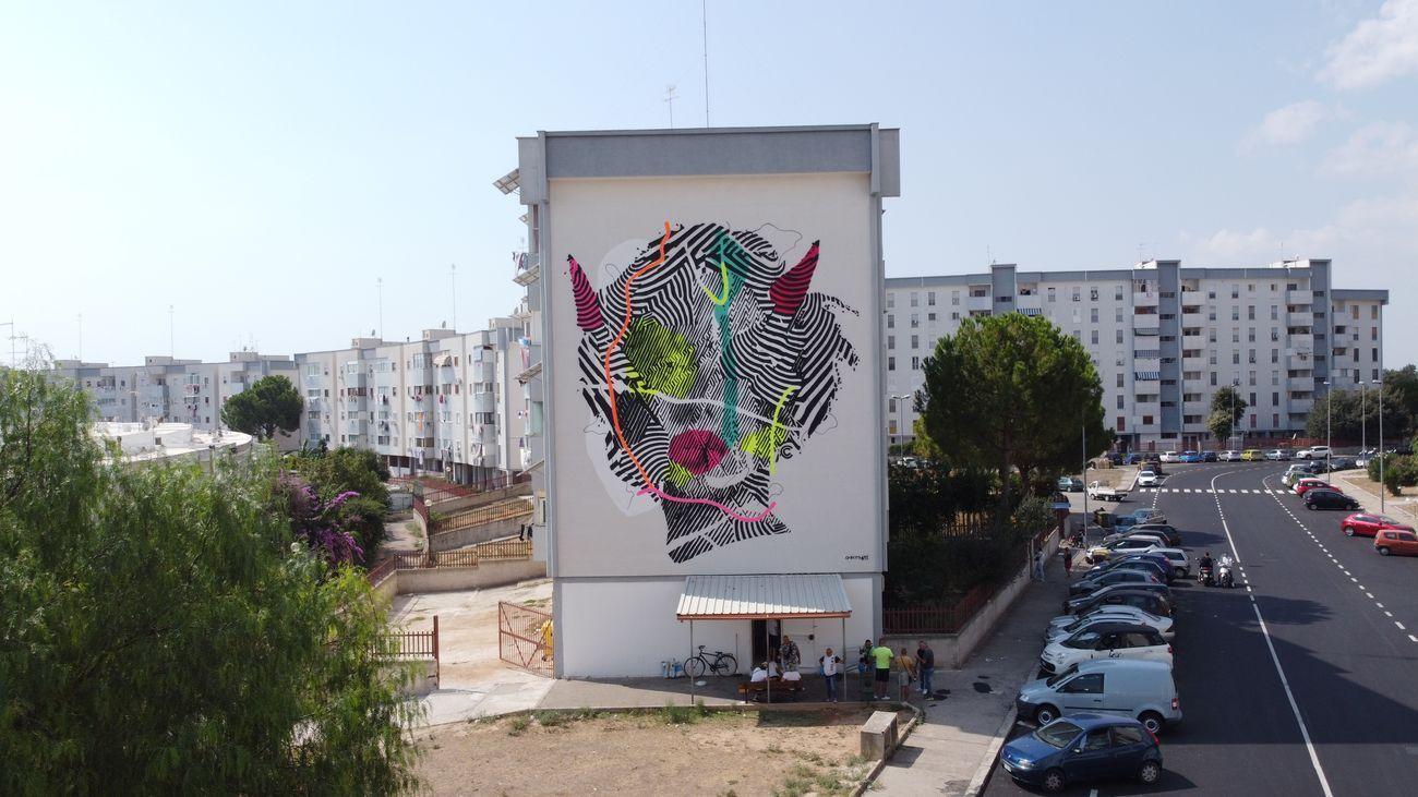 Checko's Art, Spartana, Quartiere Paolo VI, Taranto 2020. Photo credits Iacopo Munno