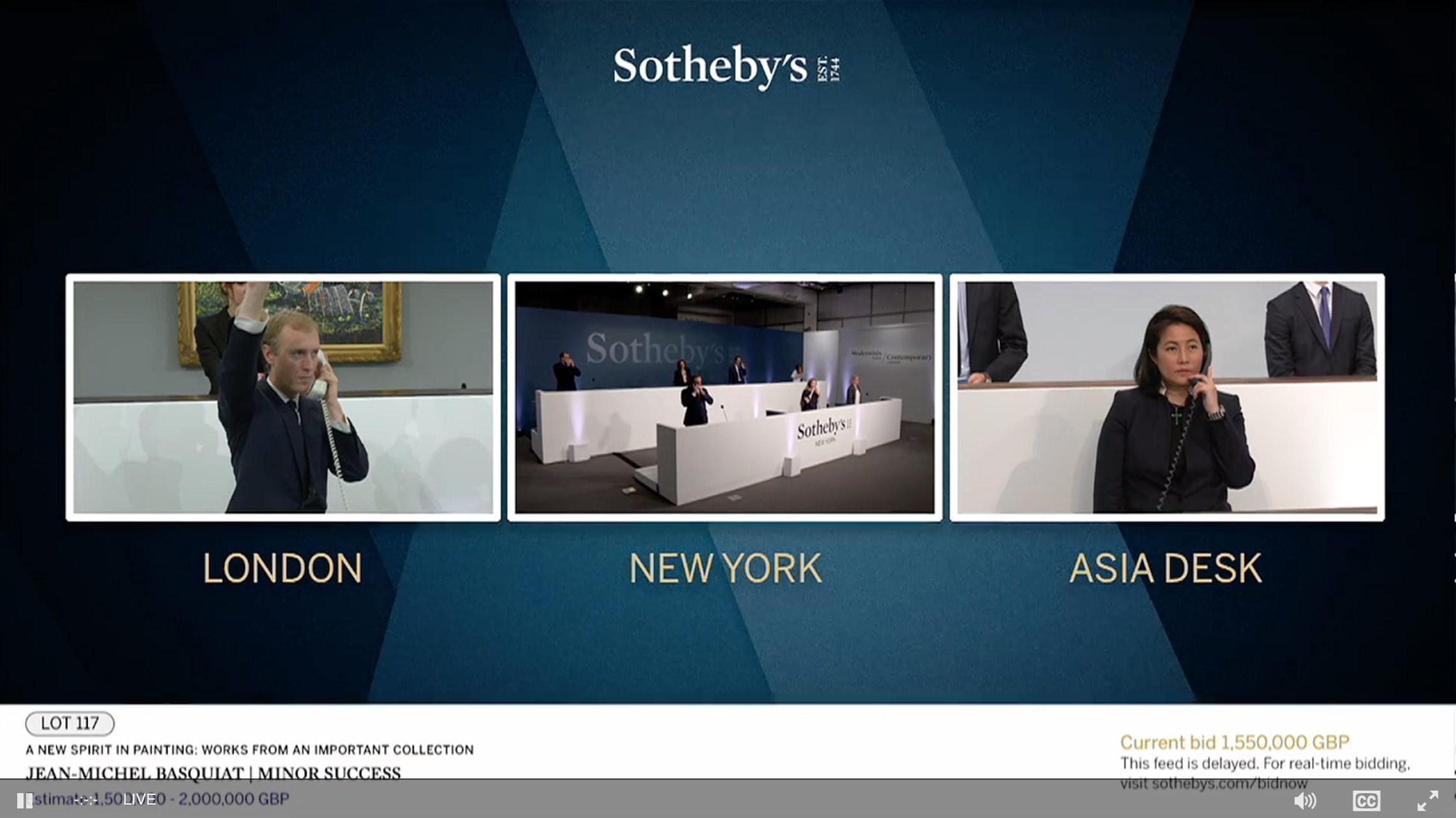 Chrisite's e Sotheby's. Le aste di ottobre