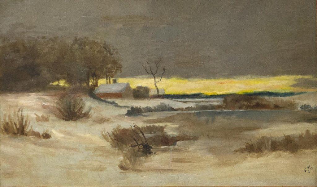 Edward Hopper, Old Ice Pond at Nyack, 1897. Cortesia di Josephine N. Hopper