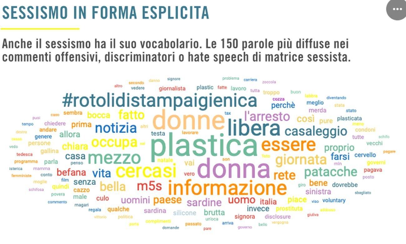 Fonte Barometro dell'odio. Sessimo da tastiera © Amnesty International Italia 2020