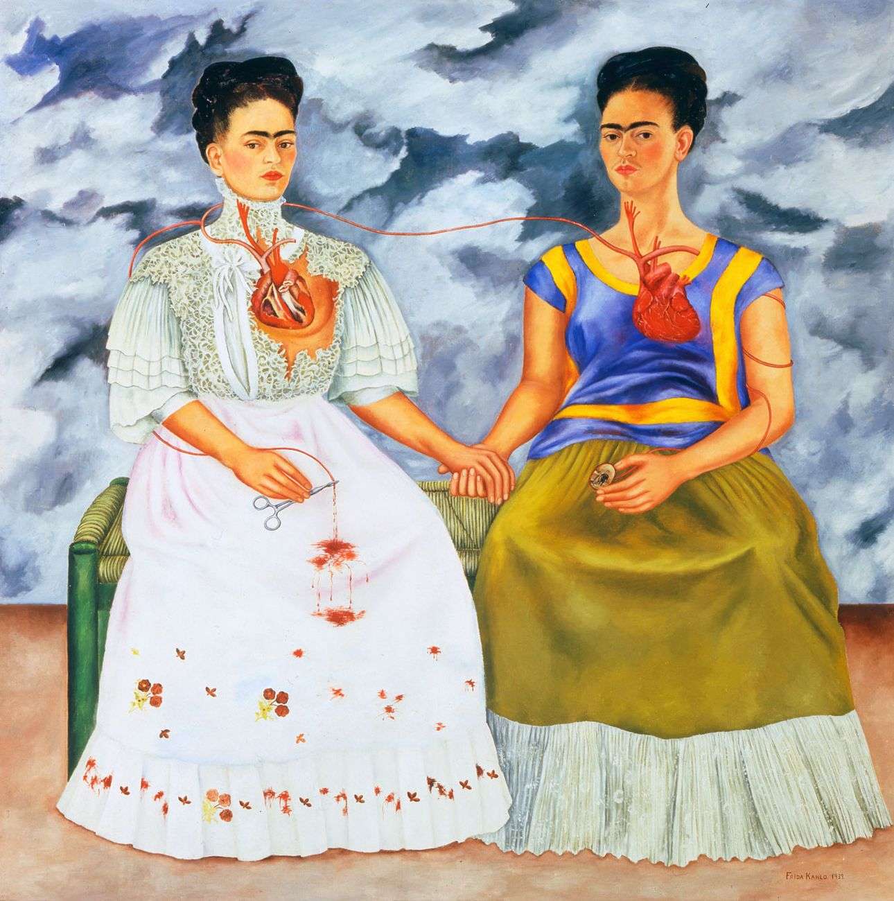 Frida Kahlo, Las dos Frida, 1939. Museo de Arte Moderno, Città del Messico