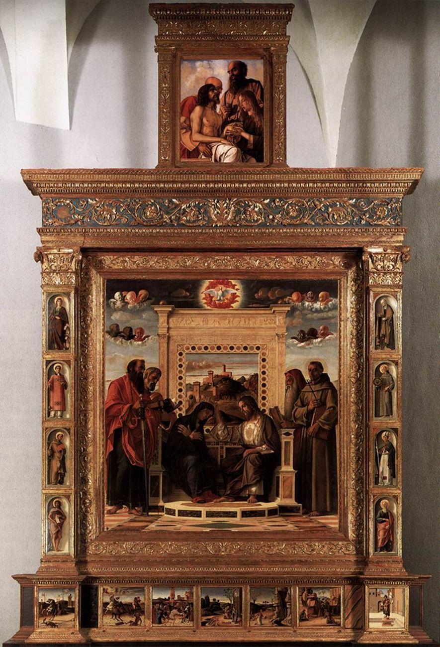 Giovanni Bellini, Pala di Pesaro, 1472-75. Musei civici Pesaro