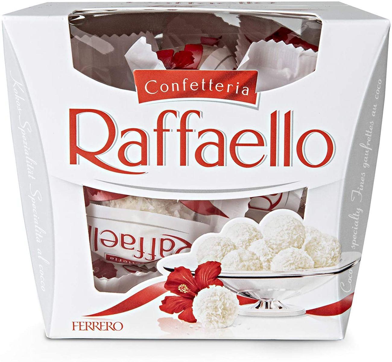 I cioccolatini Raffaello prodotti da Ferrero