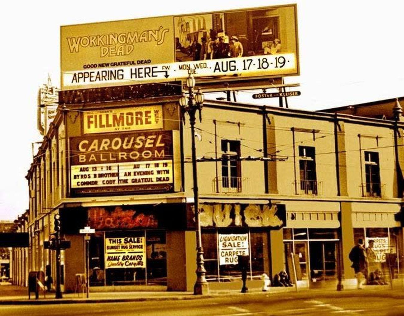 Il Fillmore West di San Francisco nel 1970