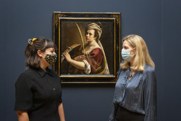 Installation view of Artemisia at the National Gallery. © The National Gallery, London