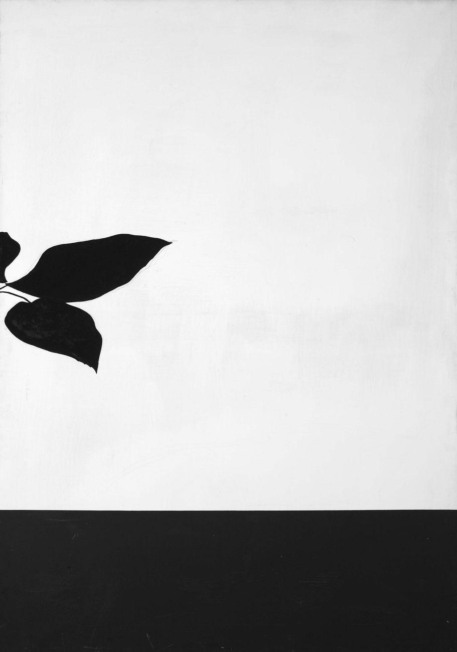 Jannis Kounellis, Senza titolo, 1967, super kenton su tela