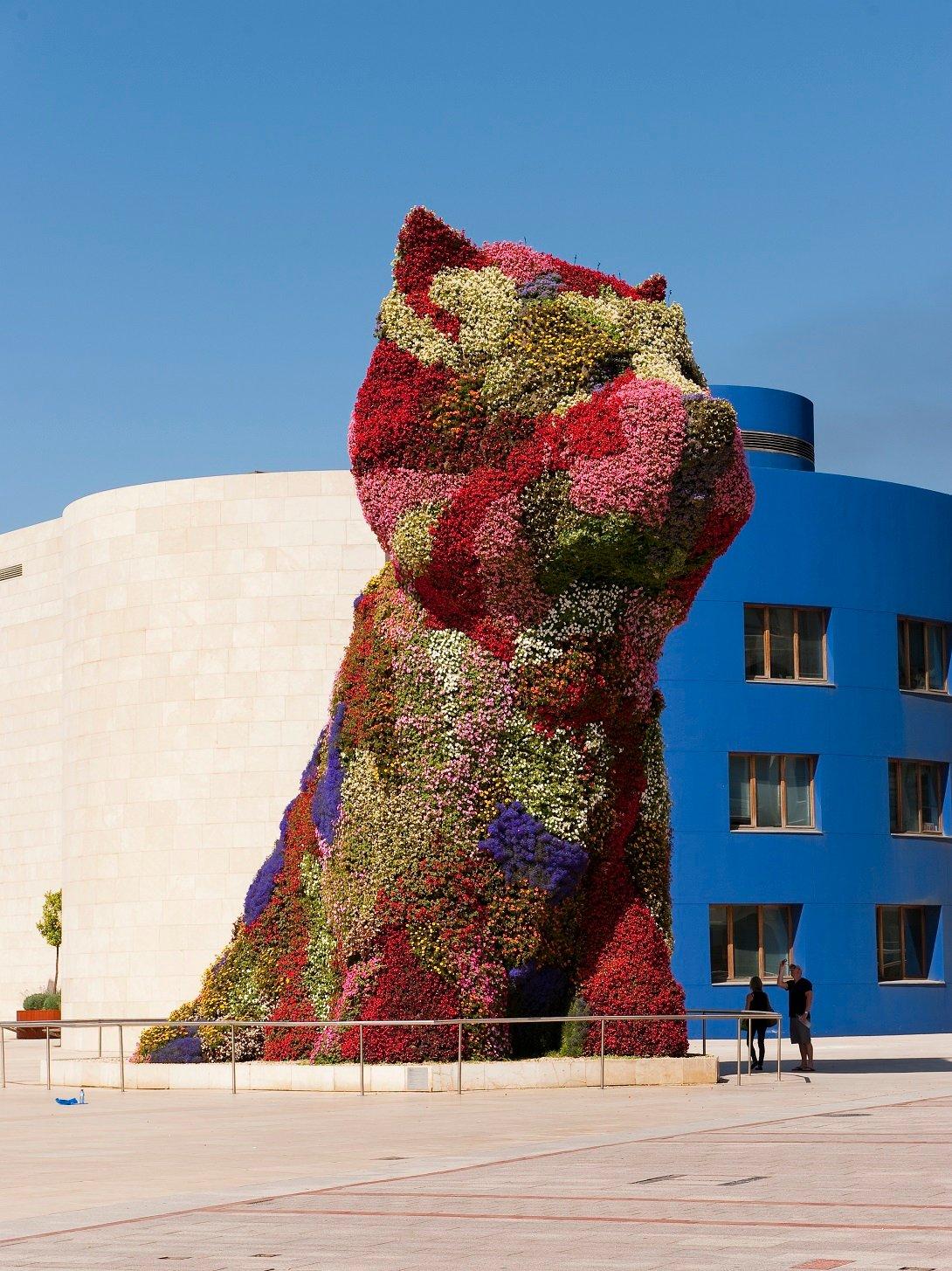 Jeff Koons, Puppy, Guggenheim museum, Bilbao