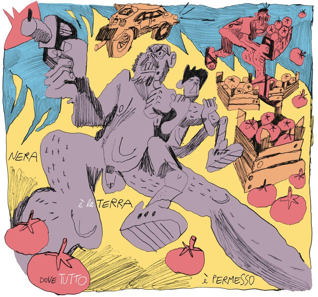La tavola di Martoz per Artribune Magazine #56