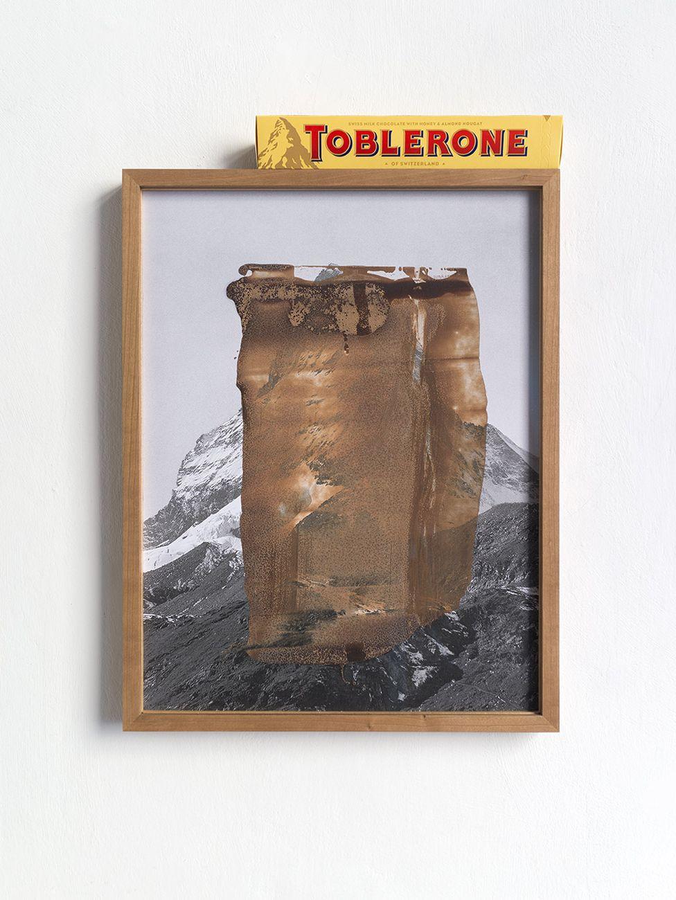 Laura Pugno, Abused, 2020, stampa Inkjet, cioccolato e Toblerone, 28,5x38,5 cm