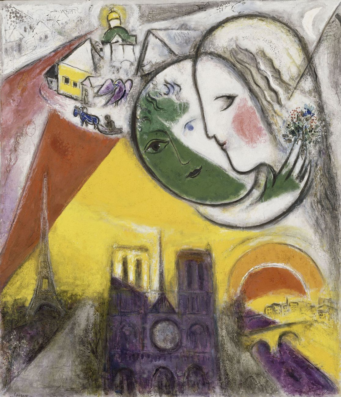 Marc Chagall, Dimanche, 1952. Parigi, Museo Nazionale di Arte Moderna