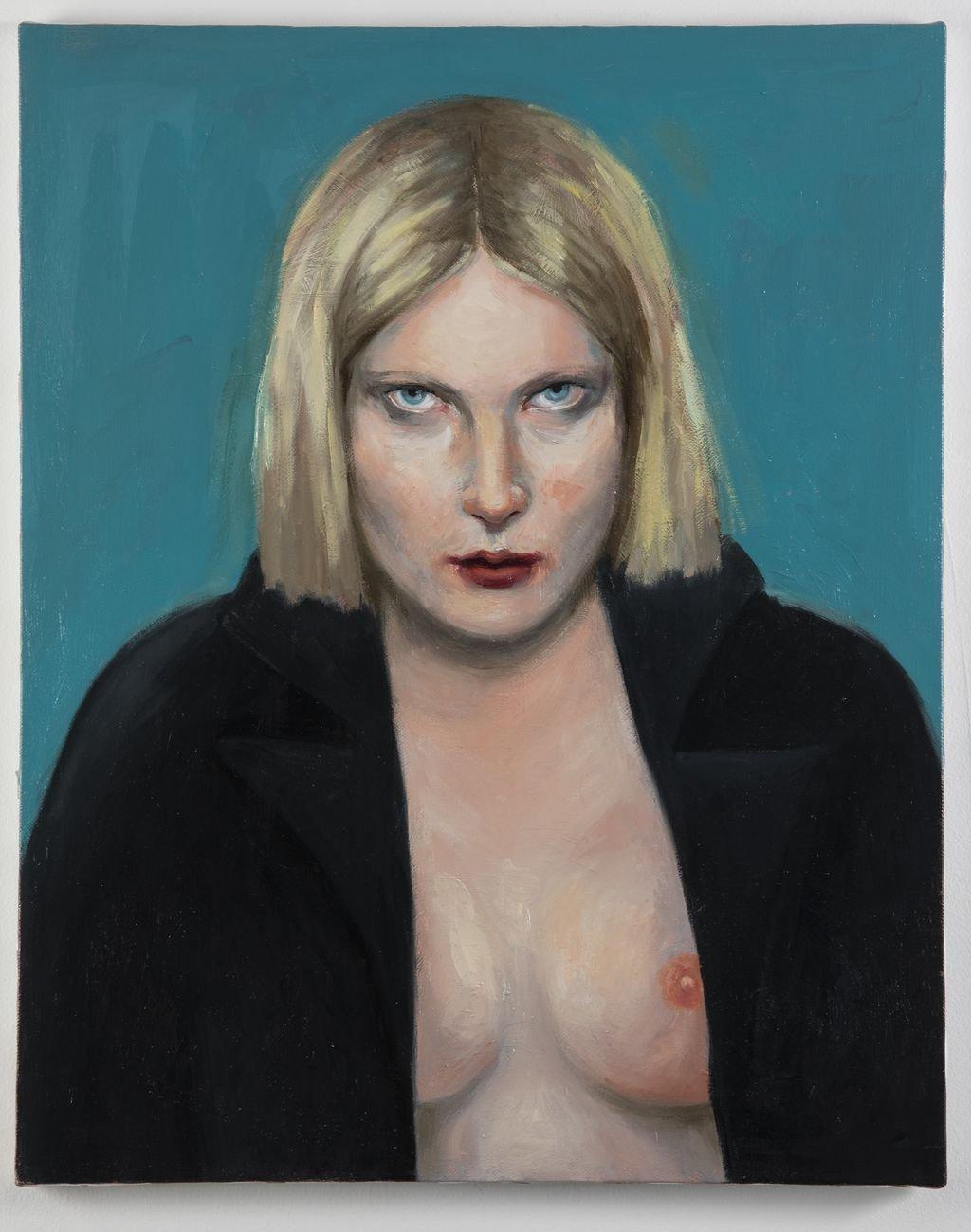 Paola Gandolfi, Sono io che ti guardo, 2020, olio su tela, 50x40 cm