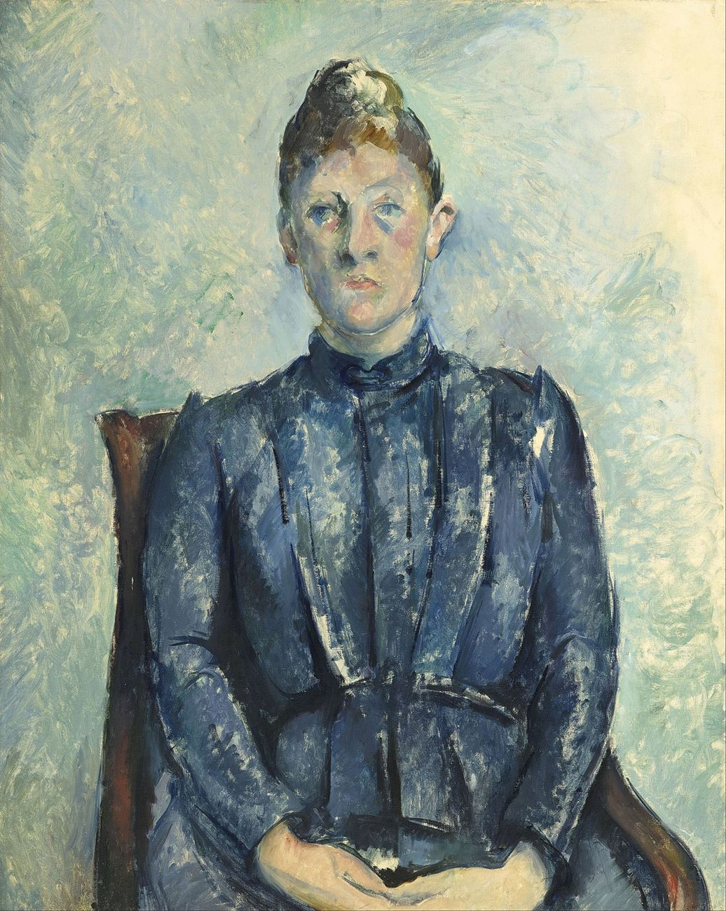Paul Cézanne, Ritratto della signora Cézanne, 1890 circa, Parigi, Musée de l'Orangerie