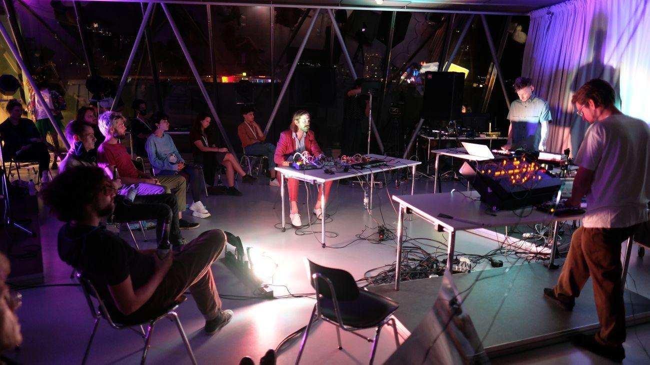 Performance by A Certai Trio, part of the Sound Campus. Photo credits Su Mara Kainz