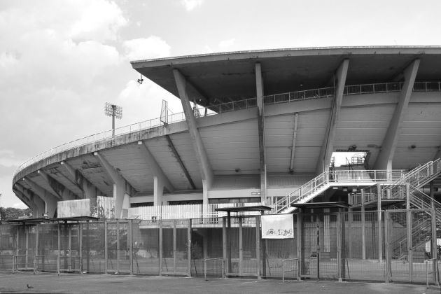 Pier Luigi Nervi, Stadio Flaminio, Roma, 1959. Photo CC BY SA 4.0 via Wikimedia
