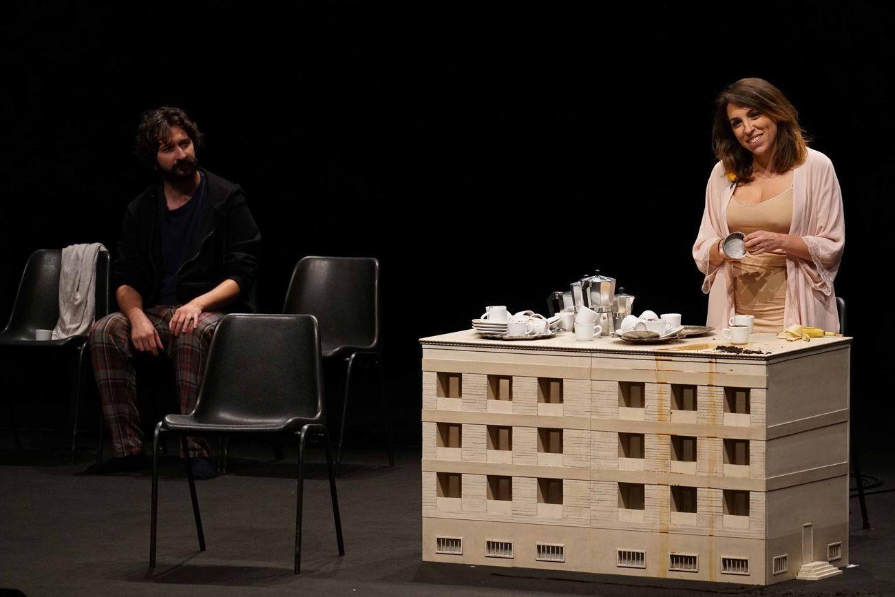 Primavera dei Teatri 2020. Compagnia Òyes, Vivere è un'altra cosa. Photo Angelo Maggio